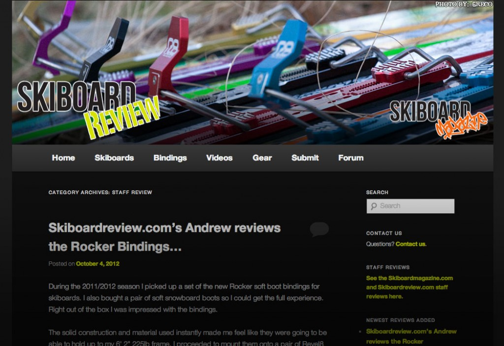Skiboard Review presents Staff Reviews