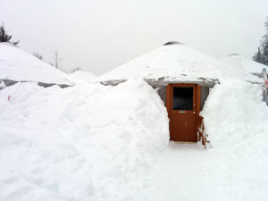 Buried yurt at Mount Bohemia