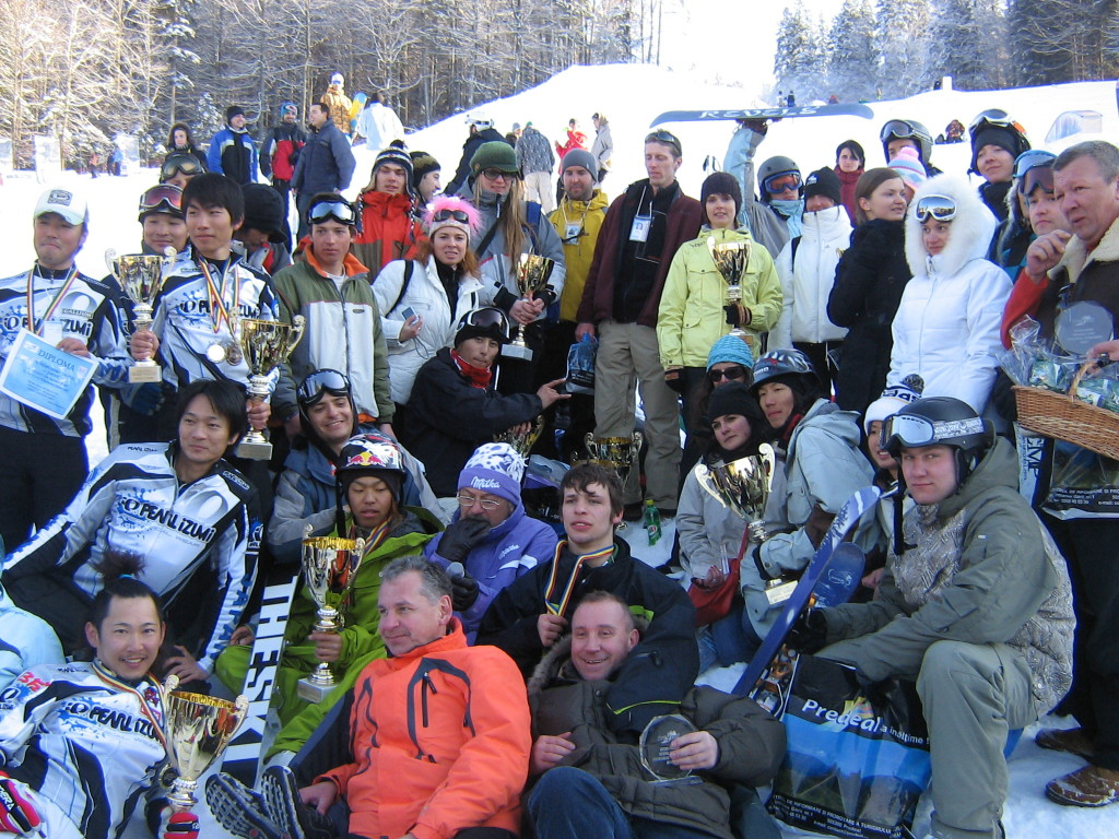 Group photo, 2007 Skiboard World Cup